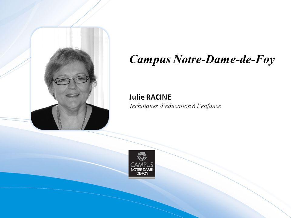 Campus Notre-Dame-de-Foy Julie RACINE Techniques déducation à lenfance