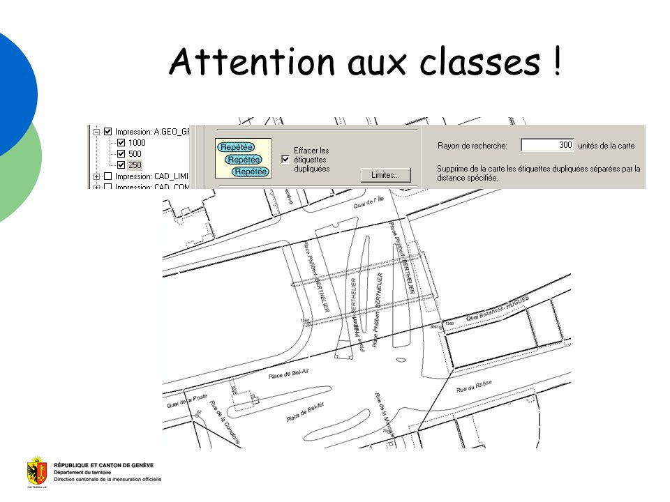 Attention aux classes !