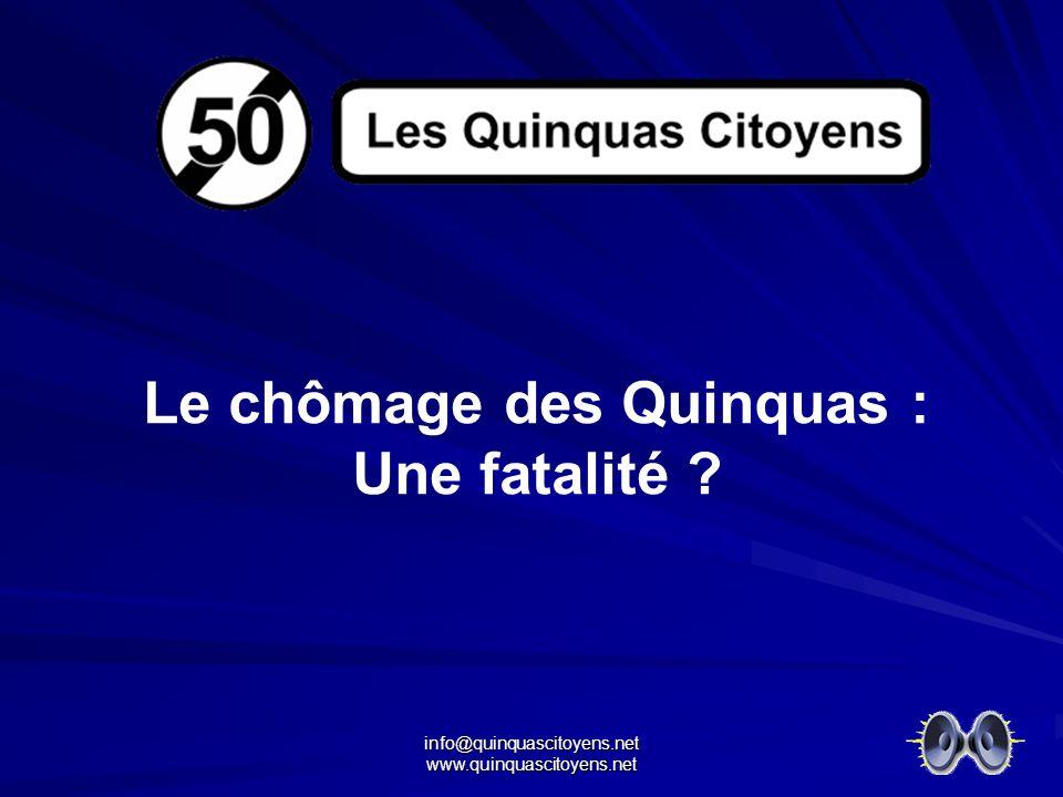 info@quinquascitoyens.net www.quinquascitoyens.net Le chômage des Quinquas : Une fatalité ?