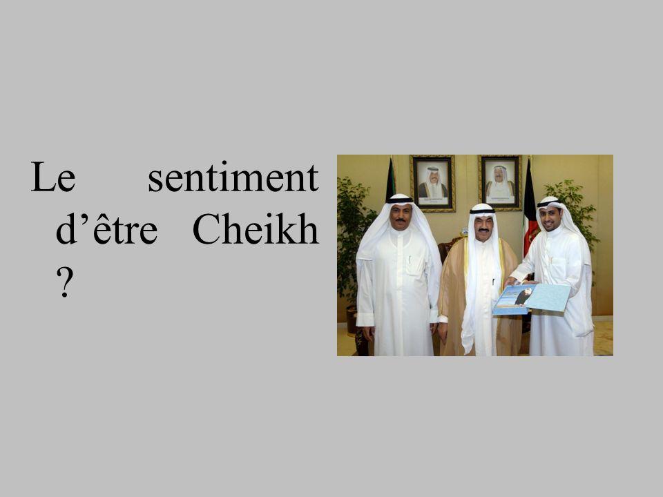 Le sentiment dêtre Cheikh ?
