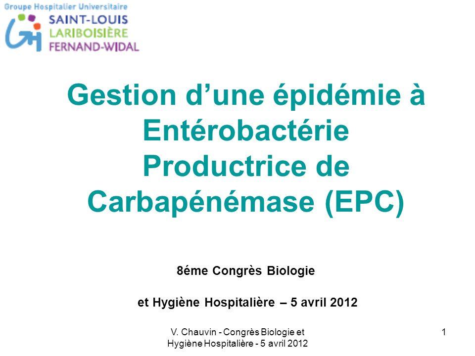 V. Chauvin - Congrès Biologie et Hygiène Hospitalière - 5 avril 2012 1 Pour modifier la date : Menu « Affichage », « En-tête et pied de page ». Person