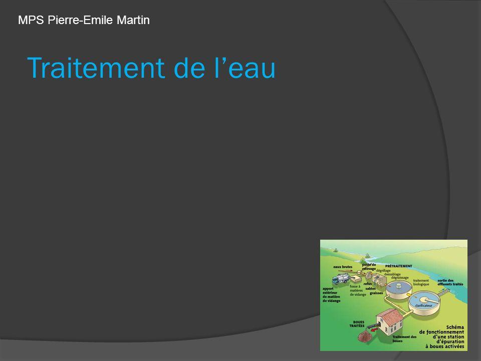 Traitement de leau MPS Pierre-Emile Martin