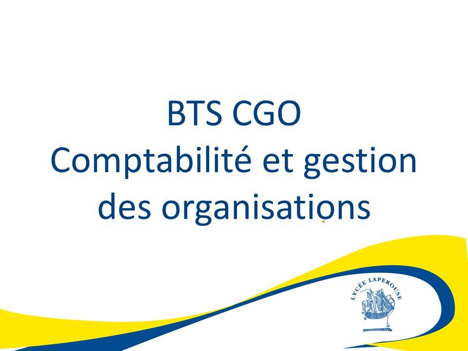 BTS CGO Comptabilité et gestion des organisations