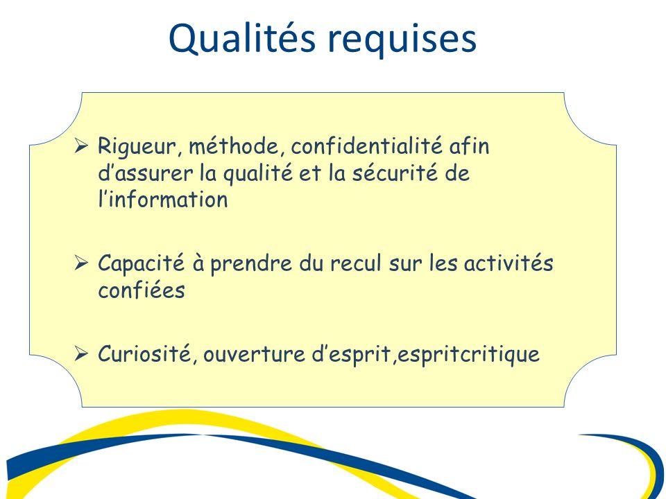 Rigueur, méthode, confidentialité afin dassurer la qualité et la sécurité de linformation Rigueur, méthode, confidentialité afin dassurer la qualité e