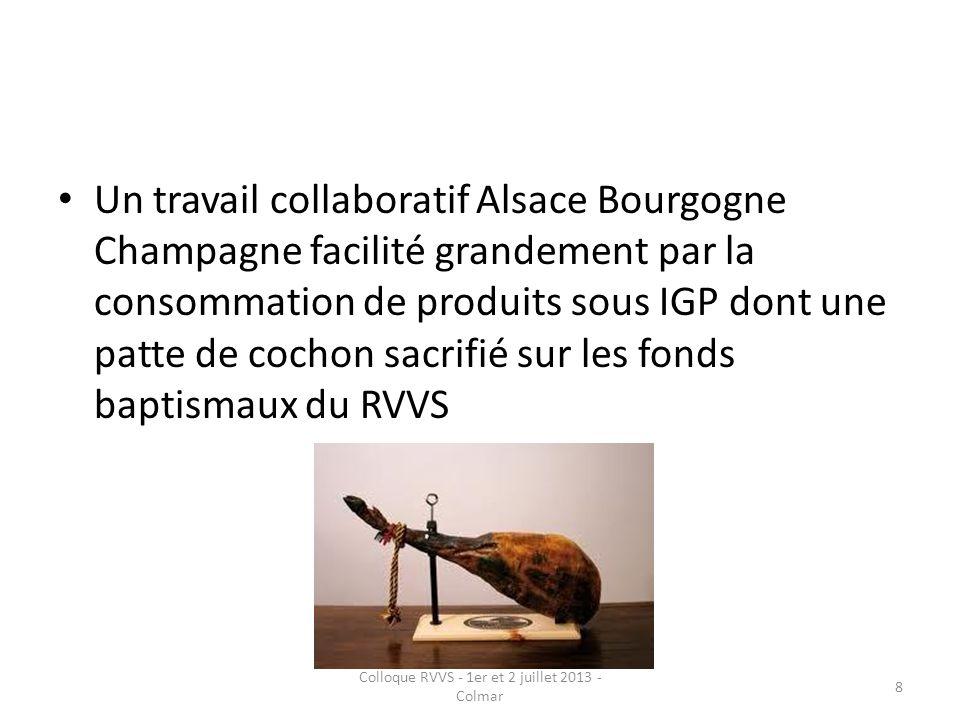 Un travail collaboratif Alsace Bourgogne Champagne facilité grandement par la consommation de produits sous IGP dont une patte de cochon sacrifié sur