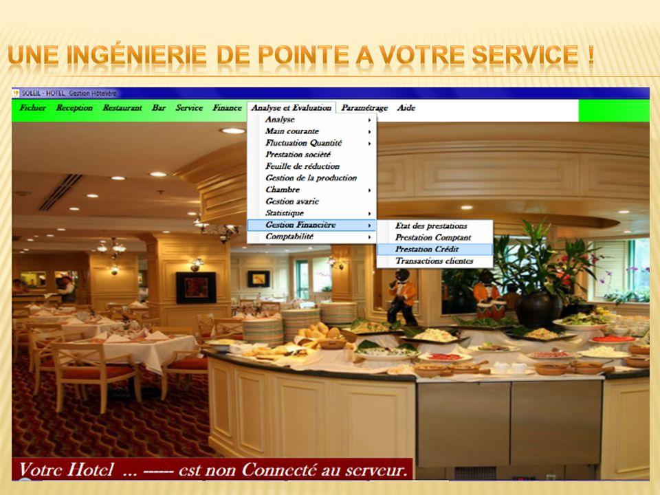 Soleil Hôtel est une solution ERP complète, mettant en évidence la gestion automatisée de lensemble des activités hôtelières et le personnel.