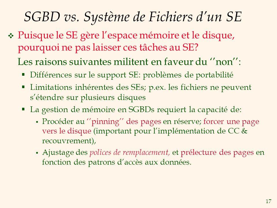 17 SGBD vs.