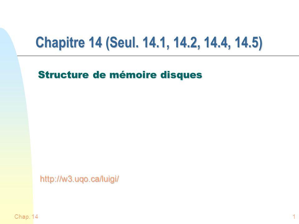Chap. 141 Chapitre 14 (Seul.