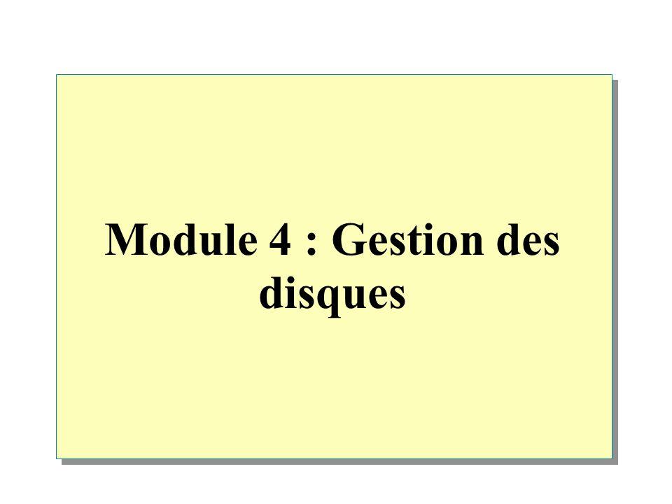 Module 4 : Gestion des disques