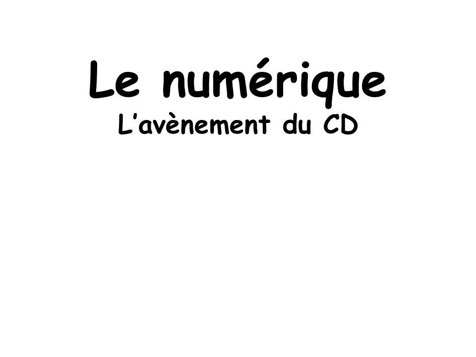 Le numérique Lavènement du CD