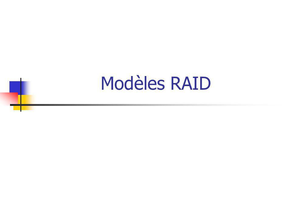 Modèles RAID