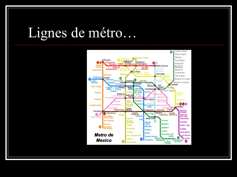Lignes de métro…