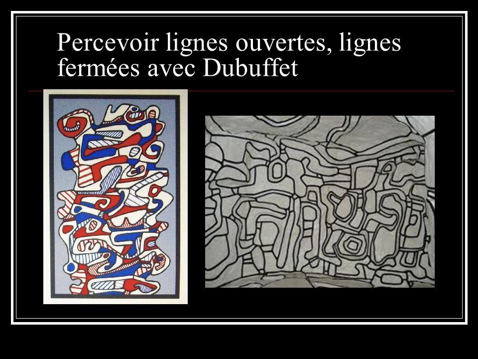 Percevoir lignes ouvertes, lignes fermées avec Dubuffet