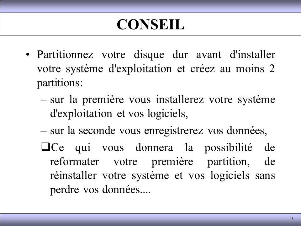 Fonctionnement du DOS Exemple : (les commandes présentées ici sont abordées plus bas).