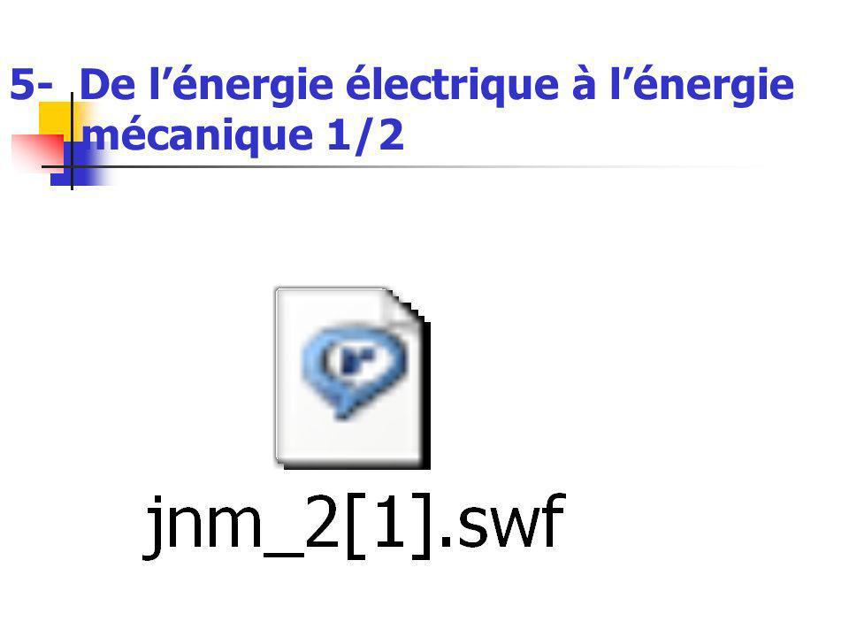 5- De lénergie électrique à lénergie mécanique 1/2