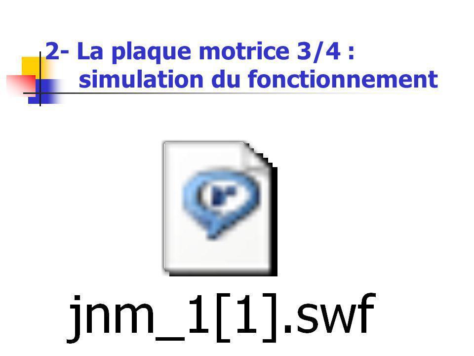 2- La plaque motrice 3/4 : simulation du fonctionnement