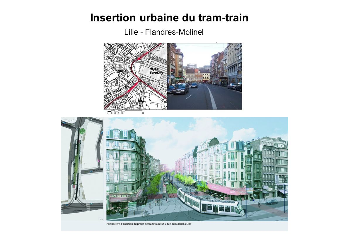 Lille - Flandres-Molinel Insertion urbaine du tram-train
