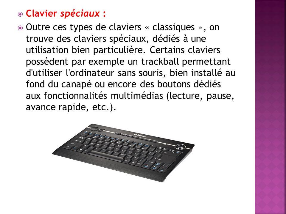 Avec l avènement du système d exploitation Windows, des claviers qui lui sont spécialement adaptés se sont fortement répandus.