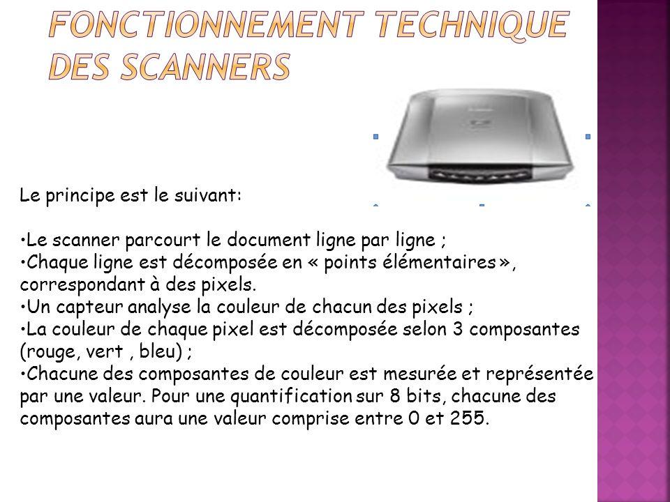 Un scanner (anglicisme pour le mot français «numériseur») est un périphérique d acquisition permettant de numériser des documents, c est-à-dire de transformer un document papier en image numérique.