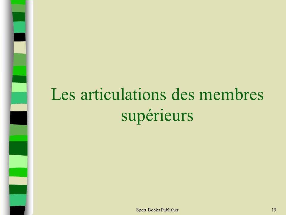 Sport Books Publisher19 Les articulations des membres supérieurs