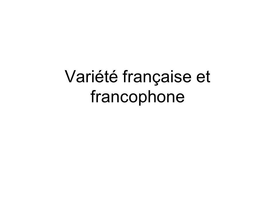 Variété française et francophone
