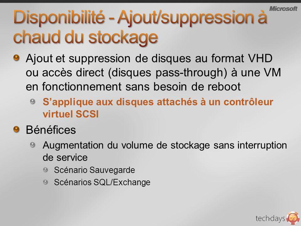 Ajout et suppression de disques au format VHD ou accès direct (disques pass-through) à une VM en fonctionnement sans besoin de reboot Sapplique aux di
