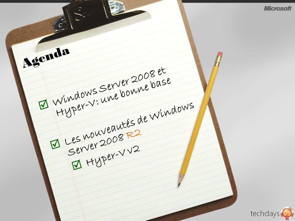 Répondre au besoin de postes de travail virtualisés, en proposant une solution de provisionning, daccès et de gestion sappuyant sur Hyper-V et Remote Desktop Services Infrastructure unique pour la découverte et la publication de ressources (applications (RDS) ou poste de travail (Hyper-V))