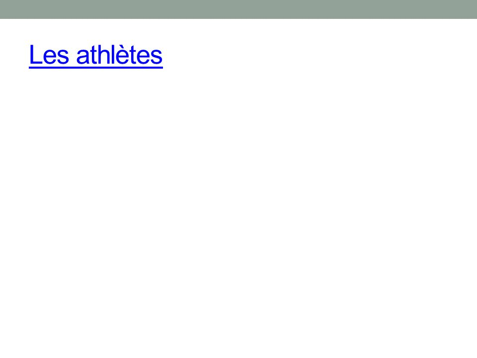 Les athlètes