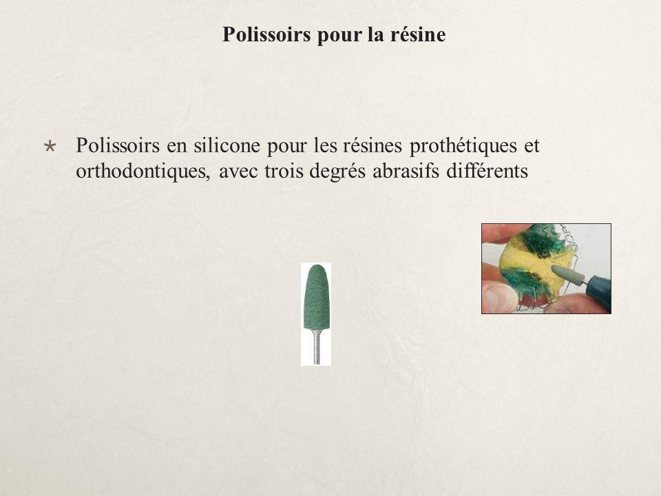 Polissoirs pour la résine Polissoirs en silicone pour les résines prothétiques et orthodontiques, avec trois degrés abrasifs différents