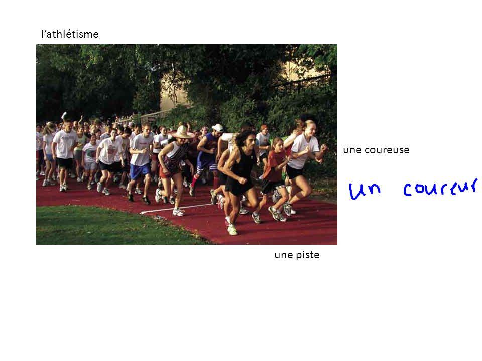 une coureuse une piste lathlétisme