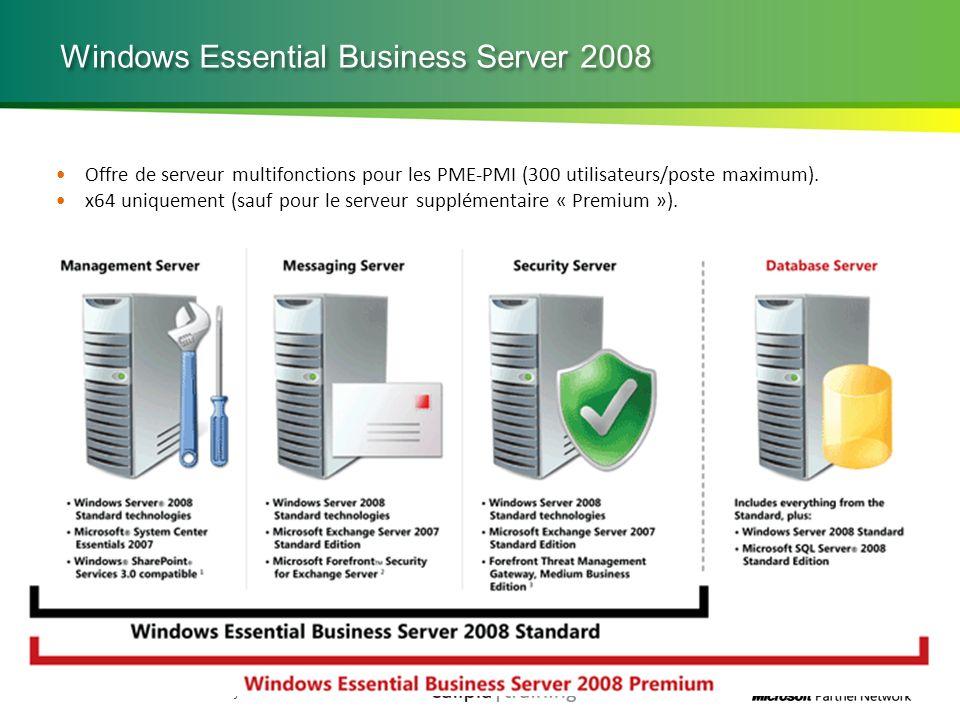 Microsoft Partner Academy – FY11 Windows Essential Business Server 2008 Offre de serveur multifonctions pour les PME-PMI (300 utilisateurs/poste maxim