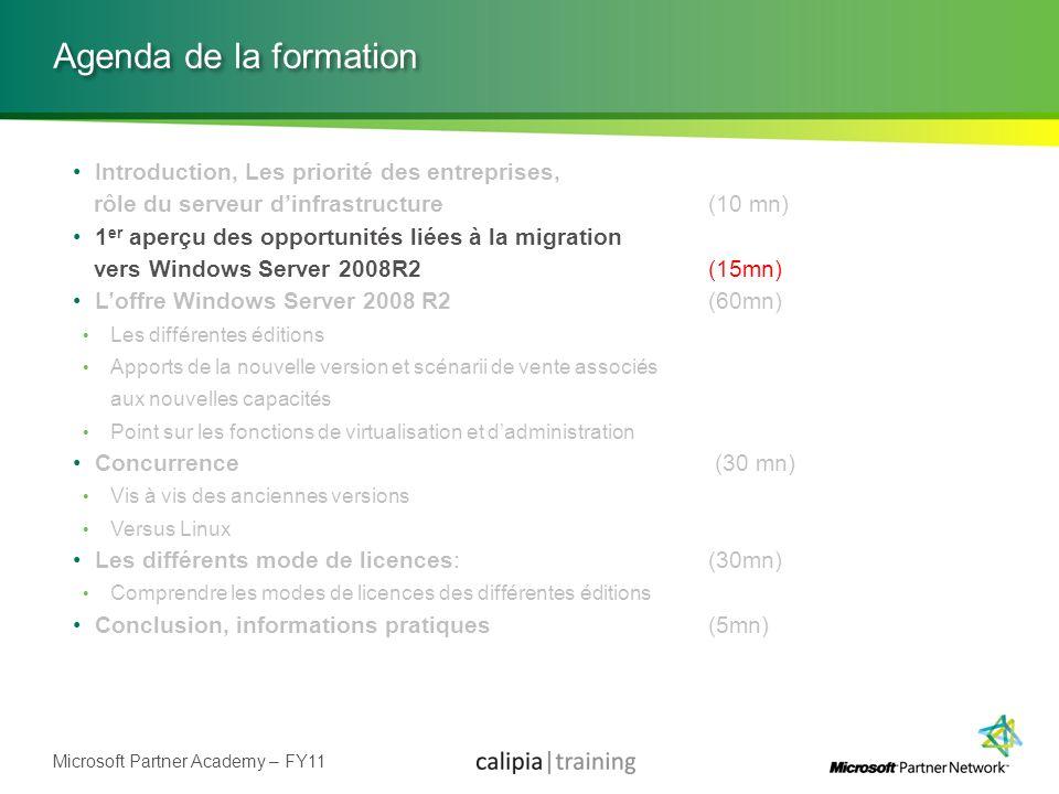 Microsoft Partner Academy – FY11 Windows Small Business Server 2008 Offre de serveur multifonctions pour les TPE (75 utilisateurs maximum).
