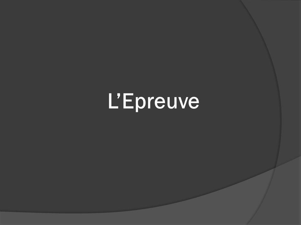 LEpreuve