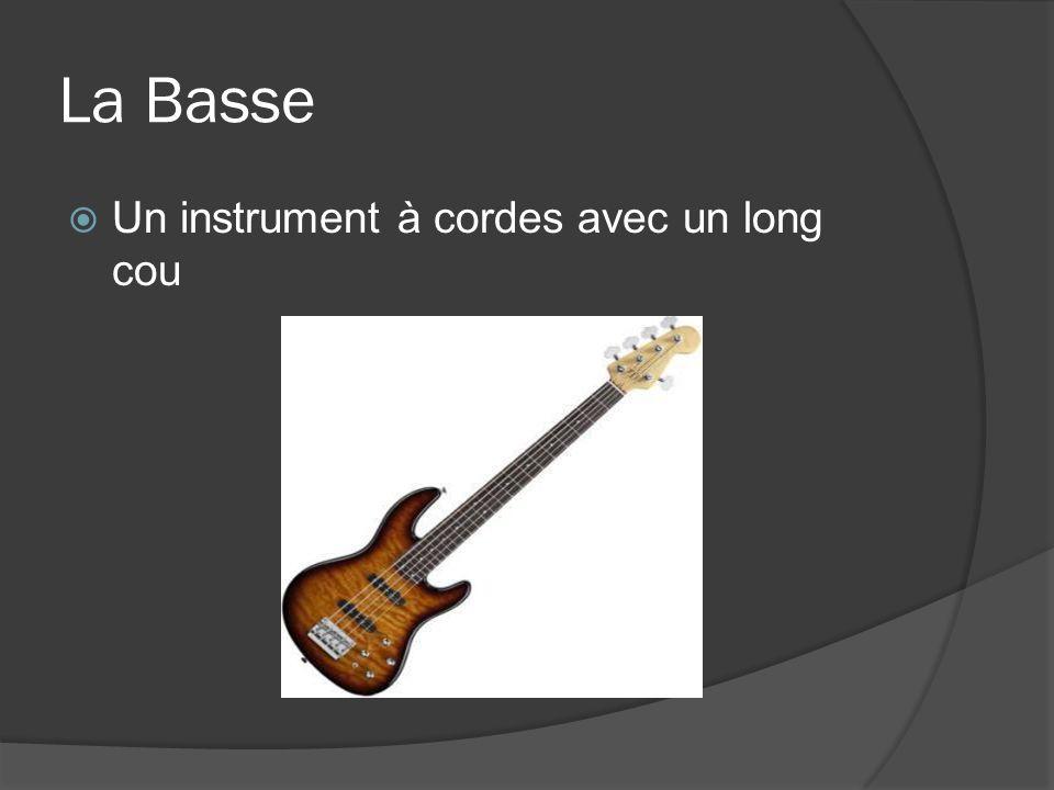 La Basse Un instrument à cordes avec un long cou
