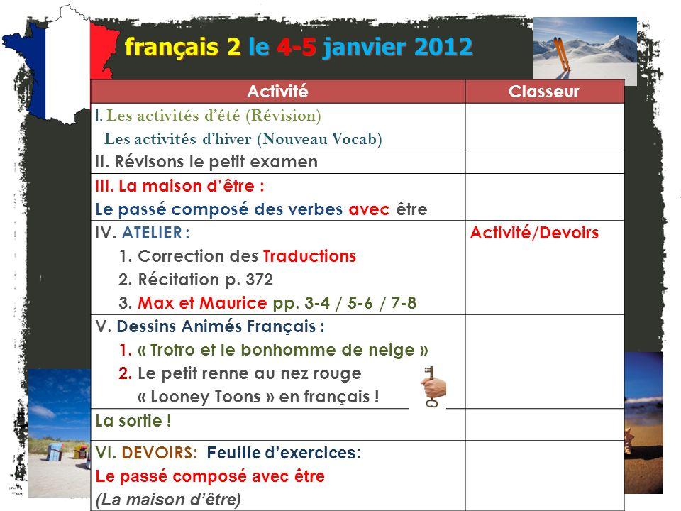 français 2 le 4-5 janvier 2012