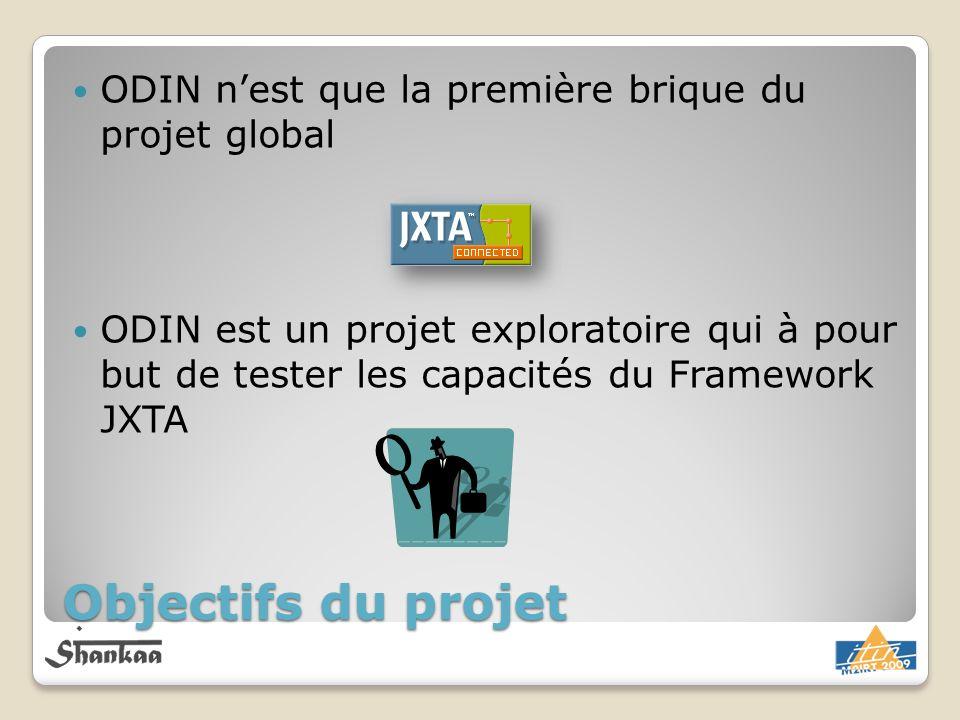 Objectifs du projet ODIN nest que la première brique du projet global ODIN est un projet exploratoire qui à pour but de tester les capacités du Framew