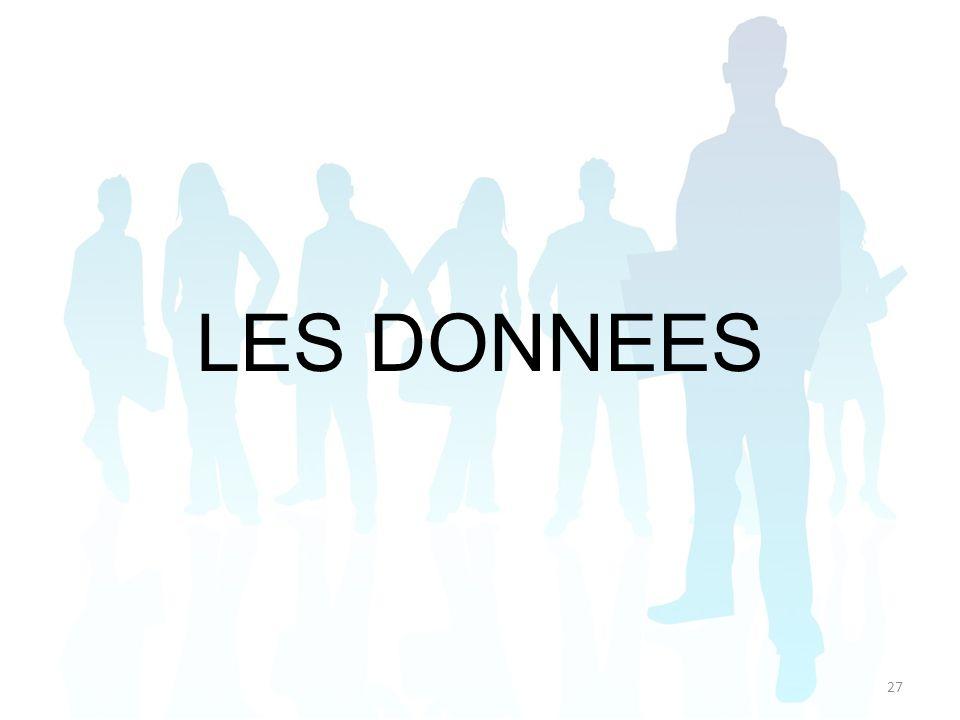 LES DONNEES 27