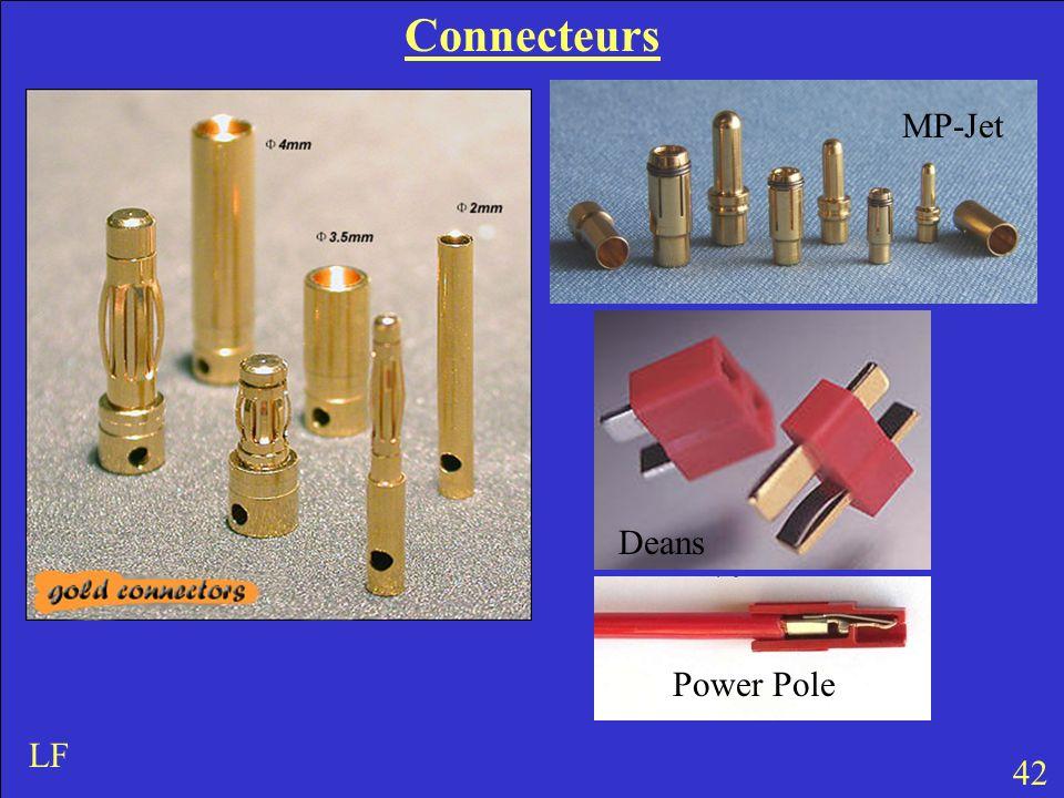 Connecteurs 42 LF MP-Jet Deans Power Pole