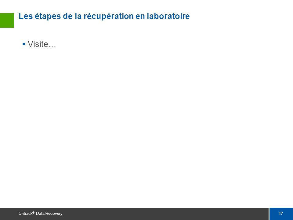 17 Ontrack ® Data Recovery Les étapes de la récupération en laboratoire Visite…