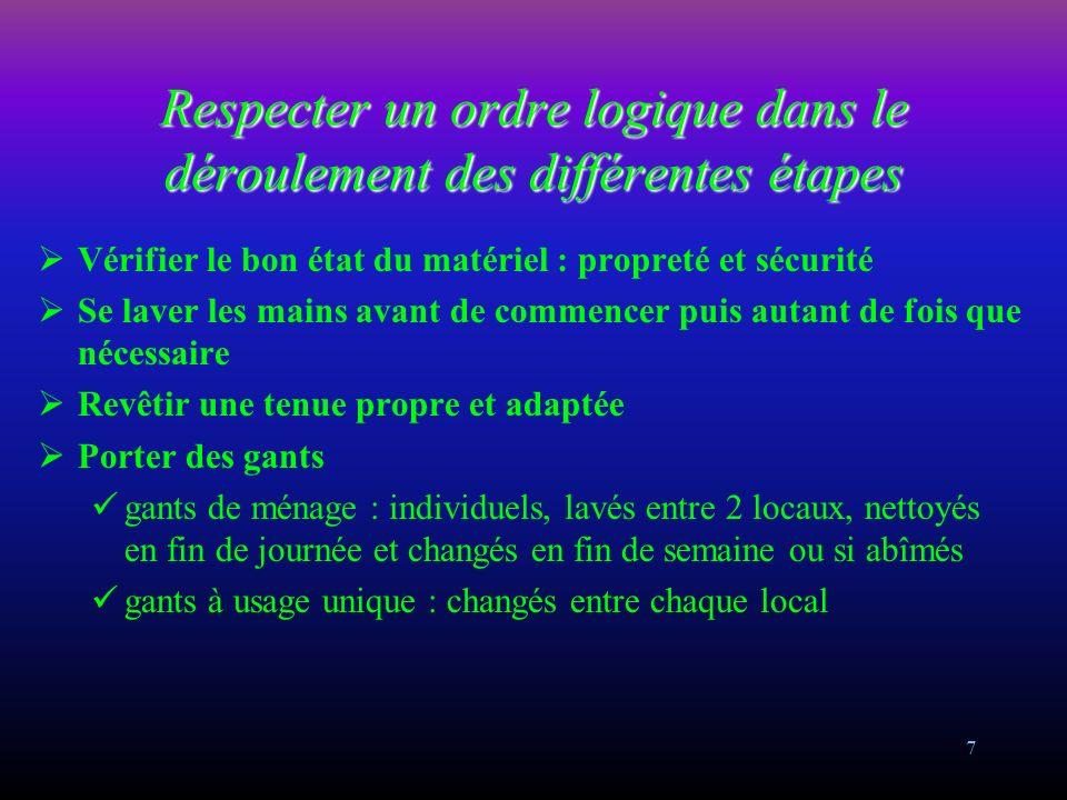 57 LAVAGE MÉCANISÉ DES SOLS (Avec auto-laveuse) (2) MATERIEL : Auto-laveuse Disque ou brosse PRODUITS EN ALTERNANCE : Détergent non moussant Détergent/désinfectant