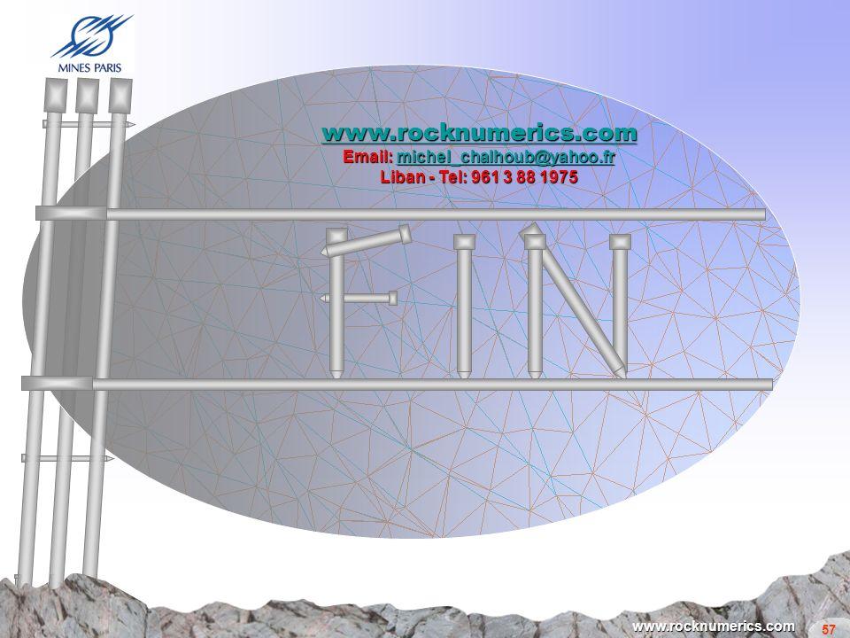 57 www.rocknumerics.com www.rocknumerics.com Email: michel_chalhoub@yahoo.fr michel_chalhoub@yahoo.fr Liban - Tel: 961 3 88 1975