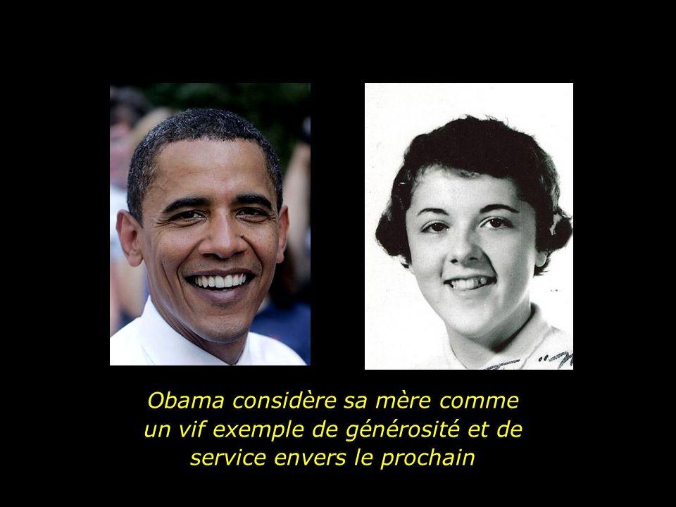 Avec sa mère et sa soeur constamment en voyage, le port dattache de Obama étaient ses grands-parents, M.