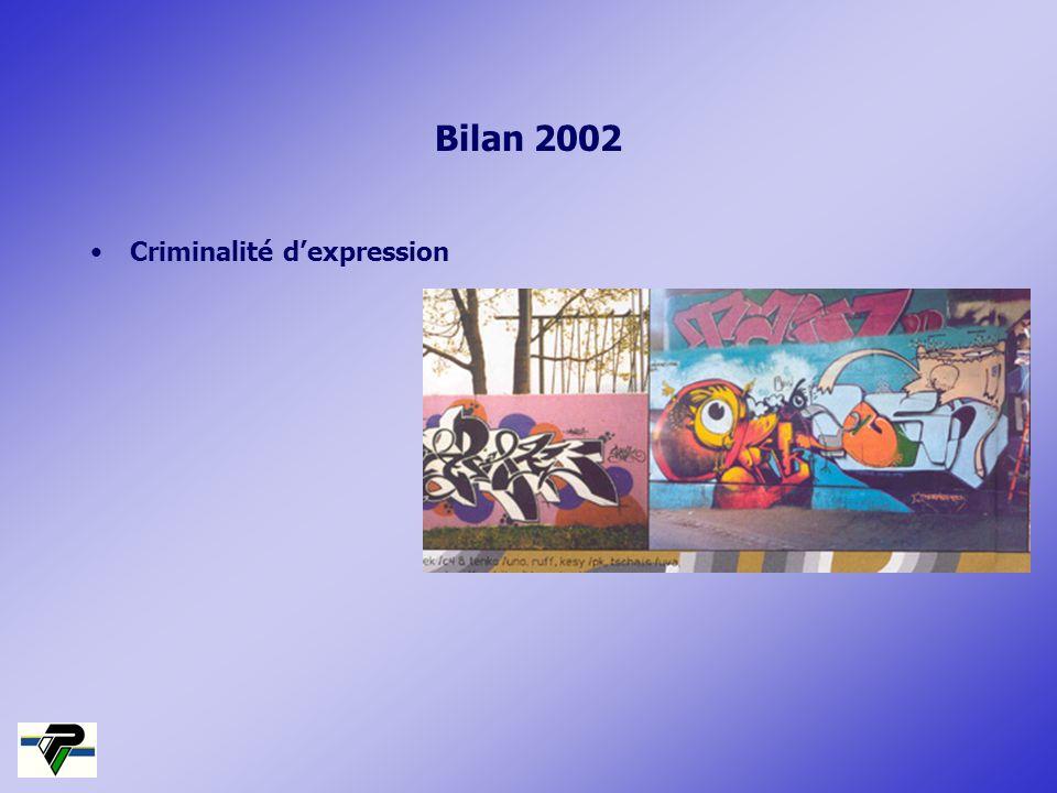 Bilan 2002 Criminalité dexpression
