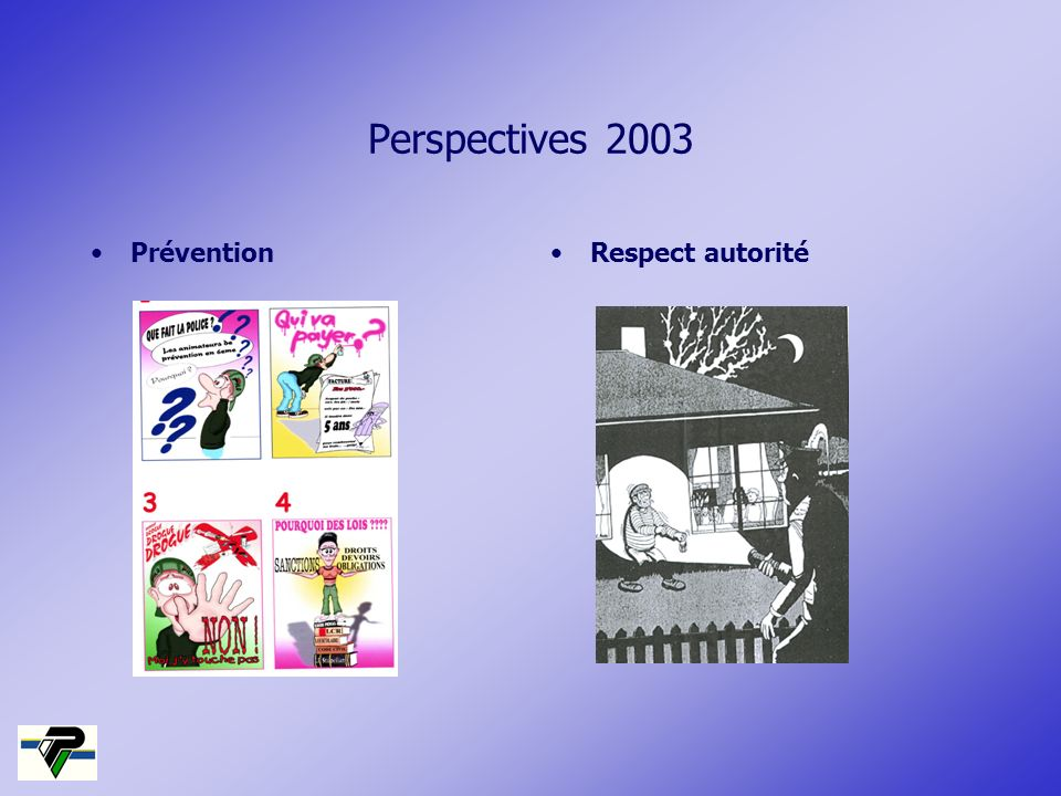 Perspectives 2003 PréventionRespect autorité