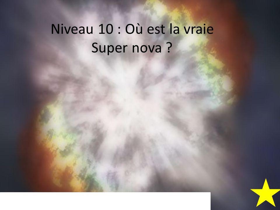 Niveau 10 : Où est la vraie Super nova ?