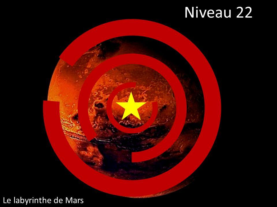 Niveau 22 Le labyrinthe de Mars
