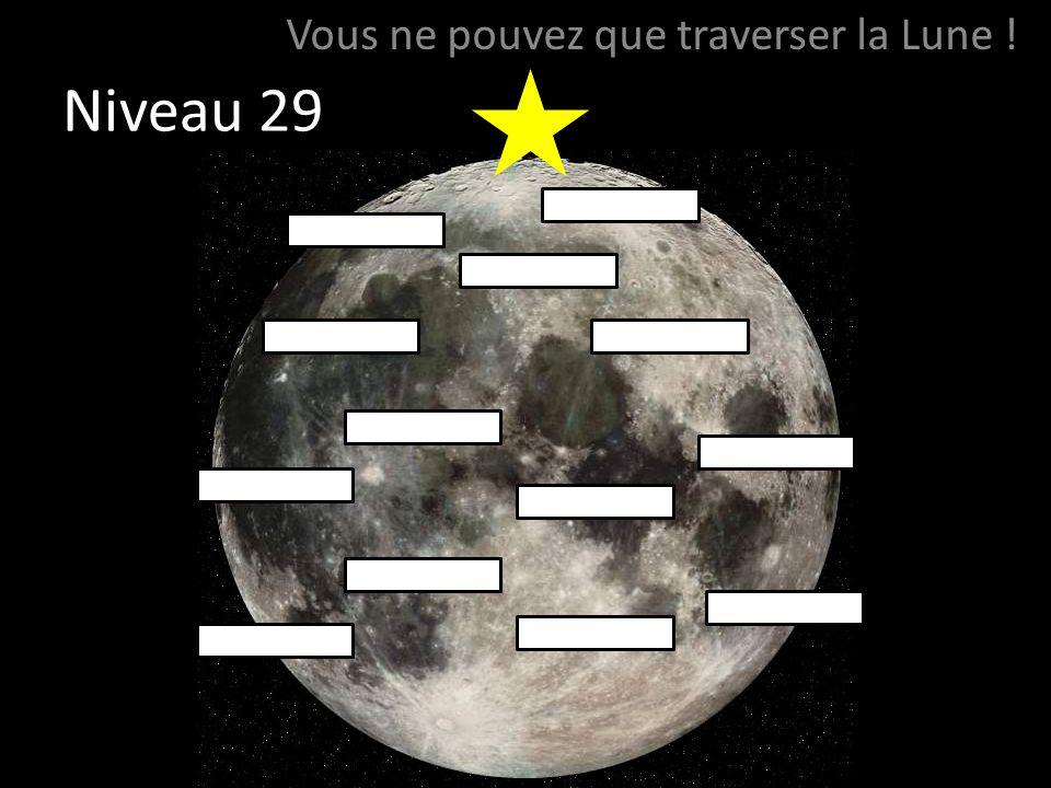 Niveau 29 Vous ne pouvez que traverser la Lune !