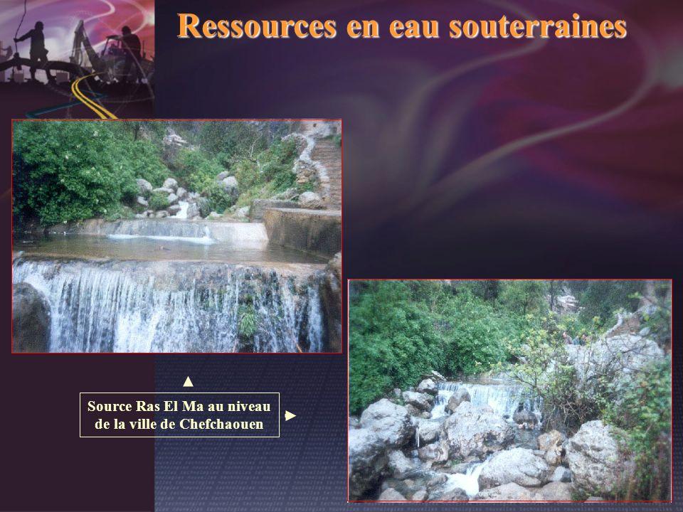 Ressources en eau souterraines Source Ras El Ma au niveau de la ville de Chefchaouen
