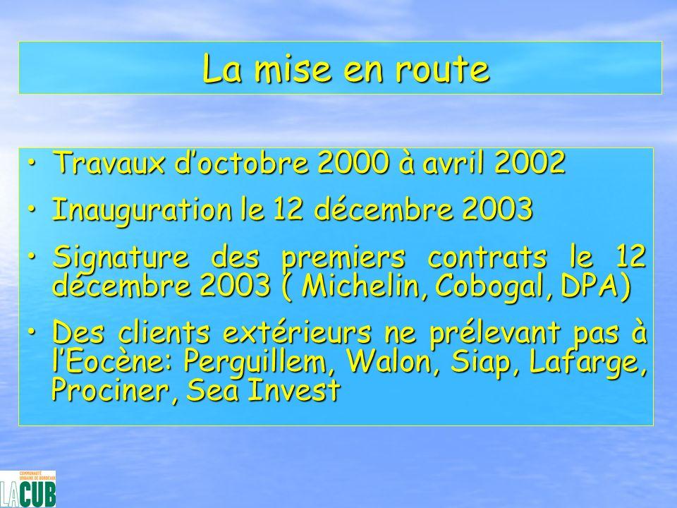 La mise en route La mise en route Travaux doctobre 2000 à avril 2002Travaux doctobre 2000 à avril 2002 Inauguration le 12 décembre 2003Inauguration le