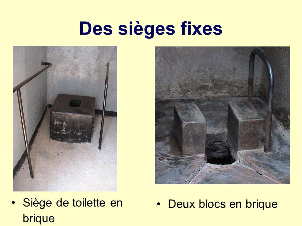 Des sièges fixes Siège de toilette en brique Deux blocs en brique
